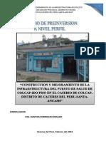 CONSTRUCCION Y MEJORAMIENTO DE INFRAESTRUCTURA DEL PUESTO DE SALUD DE COCAPL