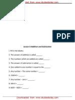 CBSE Class 3 Mathematics Worksheet (90) - Addition and Subraction