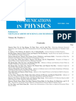 Communications in Physics-2010