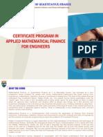 Applied Mathematical Finance Engineers Brochure