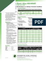 alloy-400-spec-sheet