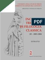 Andrea Tessier, Commemorazione di Marcello Gigante INCTS 2003-4