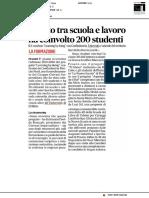 Learning by Doing, il patto tra scuola e lavoro ha coinvolto 200 studenti - Il Corriere Adriatico del 15 giugno 2020