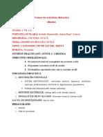 Proiect de activitate didactică VII societatea civila