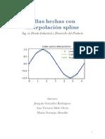 Trabajo interpolación de la spline cúbica