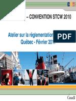 Mise à jour - Convention STCW 2010