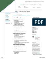 Arranging- Contemporary Styles - Syllabus