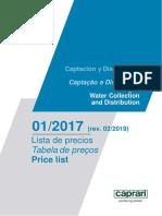 CAPRARI Tarifa Sector Industrial AZUL rev. 02_2019