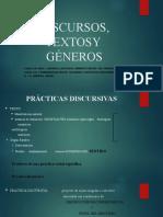 DISCURSOS, TEXTOSY  GÉNEROS