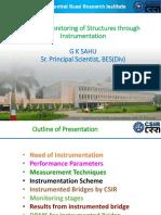 KHRI-Webinar(01-05-2020)-Health monitoring of structures through instrumentation-Part 1- Er.G.K Sahu(CRRI)