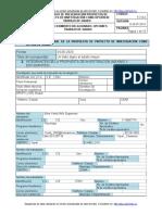 F-7-9-2. Formato de Presentación Propuesta Proyecto de Investigación como Opción de Trabajo de Grado Erika Niño