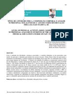 NÍVEL DE ATIVIDADE FÍSICA, COMPOSIÇÃO CORPORAL E ANÁLISE