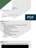 ETW Network Programmability 20190504 Stritzel