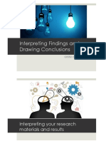 Interpreting findings and drawing conclusions