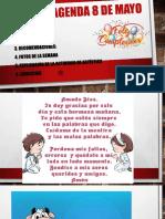 14. AGENDA 8 DE MAYO