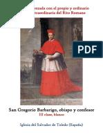 17 de Junio. San Gregorio Barbarigo, obispo y confesor. Propio y Ordinario de la santa misa rezada
