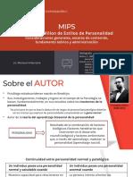Presentación MIPS - parte 1 - introducción, estructura de las escalas de contenido, fundamentos teóricos y administración