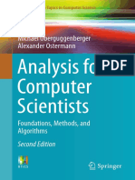 Oberguggenberger and Ostermann 2018 Analysis for computer scientists