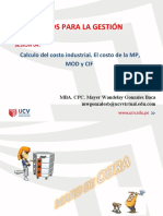 Costos Industriales de Fabricación_Mano de Obra