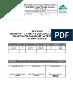 PR-OE-003-PROCEDIMIENTO DE TRANSPORTE DE POSTES Y EQUIPOS CON CAMIÓN GRÚA DE ALMACÉN A PUNTO DE IZAJE