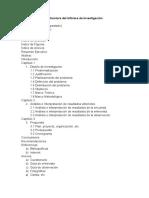 Estructura del Informe de Investigación