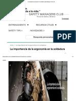La importancia de la ergonomía en la soldadura _ Safety Managers Club de 3M