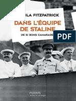 Dans l'équipe de Staline - Sheila Fitzpatrick