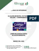Código de Integridad, Puerto Salgar, Año 2020.