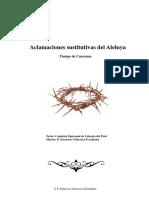 Libro de aclamaciones sustitutivas del Aleluya