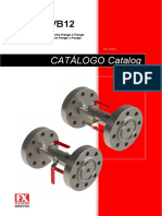 fluxcon-catalogo-VB02 - VB12 Válvula Duplo Bloqueio Flange x Flange