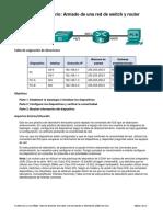 Práctica de laboratorio-armado de una red switch y router