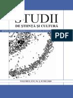 """""""Studii de Știință și Cultură"""", Volumul XVI, Nr. 2, iunie 2020"""