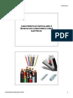 Aula 16 Características particulares dos condutores e cabos eléctricos