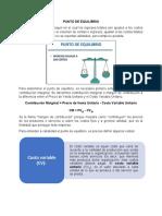 PUNTO DE EQUILIBRIO - costos