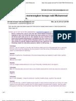 Gmail - Nota Facebook Yg Menerangkan Kenapa Nabi Muhammad Tidak Boleh Dilukis..
