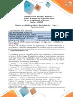 Guía de actividades y Rúbrica de evaluación - Etapa 1 - Reconocimiento