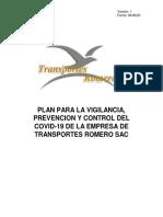 PLAN TRANSPORTES ROMERO SAC