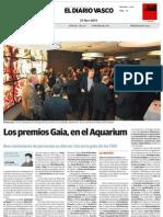Los premios Gaia, en el Aquarium
