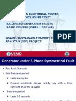 W-1-Day-4-B - Balanced Generator Faults