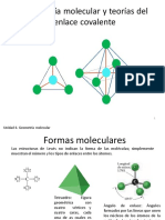 P3 Geometría molecular y teorías del enlace covalente (2)