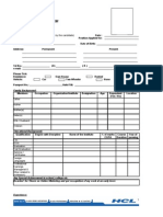 Interview Process Form