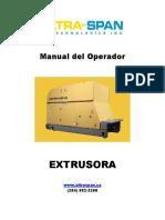 Extruder Operator Manual  - Espanol 201511