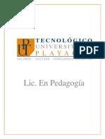 TecPlayacar_Licenciatura en Pedagogía