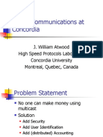 Group Communications at Concordia