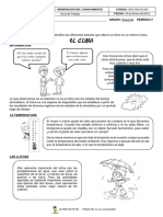 GUÍA EL CLIMA - CIENCIAS SOCIALES  (GRADO SEGUNDO)