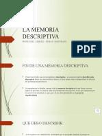 LA MEMORIA DESCRIPTIVA 7MO
