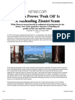 Russian Proves 'Peak Oil' Is A Misleading Scam