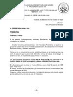 CONVOCATORIA A CULTO UNIDO 13 DE JUNIO