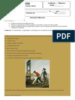 Capa para Avaliação Dissertativa