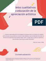 Modelos cualitativos en la educación de la apreciación artística